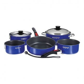 Magma 10-Piece Ceramica Cookware Set, Cobalt Blue